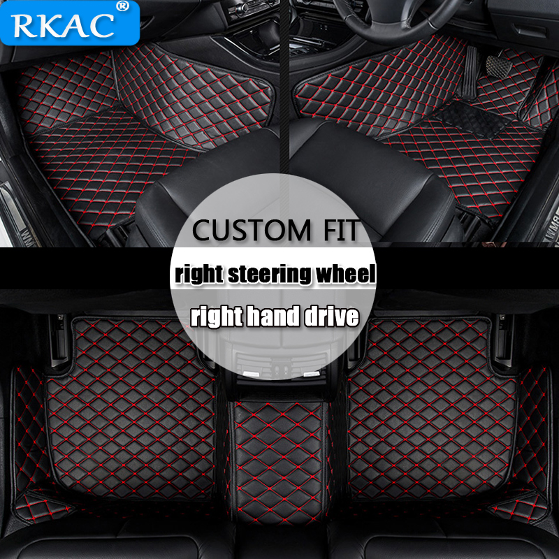 RKAC For right hand drive Custom car floor mats for <font><b>Mazda</b></font> CX-<font><b>5</b></font> CX-7 MX-<font><b>5</b></font> CX-9 <font><b>mazda</b></font> 3 <font><b>5</b></font> 6 8 CX-4 atenza car styling Leather image