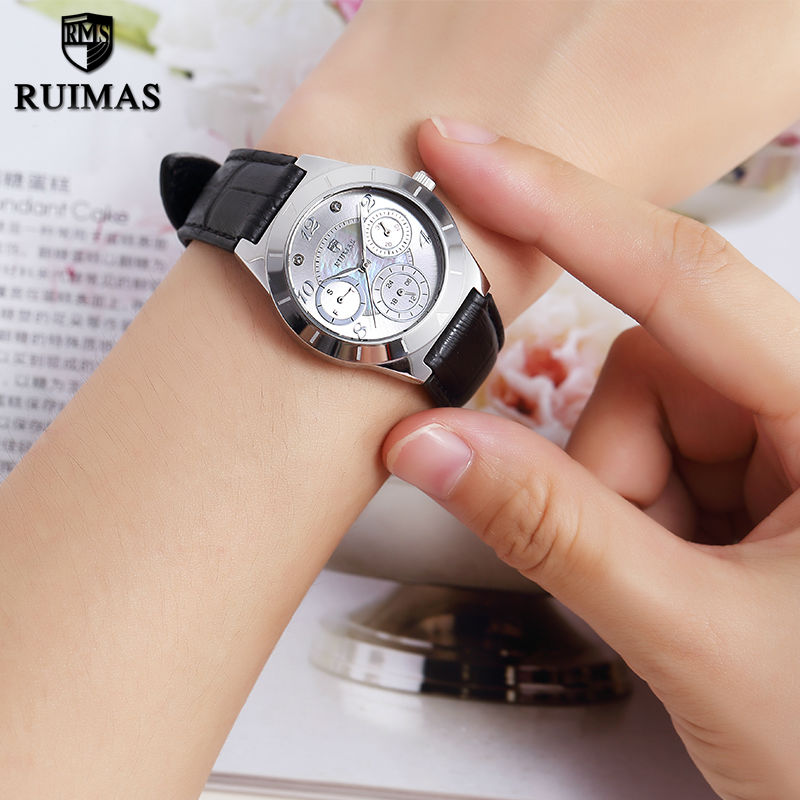 RUIMAS Original Women Watches Fashion Leather Ladies Watch Relogio Feminino Reloj Mujer Horloges Vrouwen Quartz Watch for Girls  ruimas original ladies watch top brand luxury quartz women watches reloj mujer montre femme for female relogio feminino