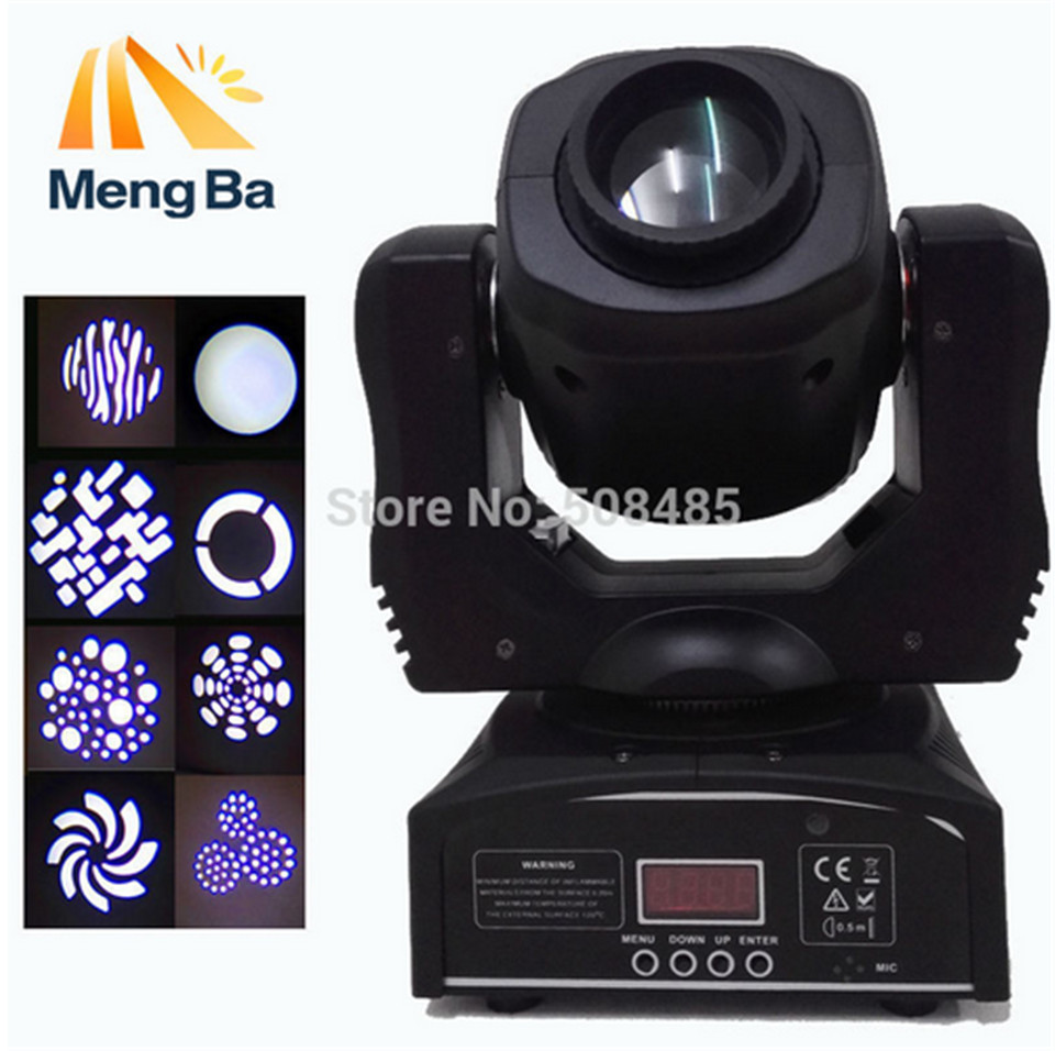 2017 new LED 60W lighting DMX stage lighting 9/11 channel dj 8 gobos effect stage light mini LED moving head light  4pcs/lot rg mini 3 lens 24 patterns led laser projector stage lighting effect 3w blue for dj disco party club laser