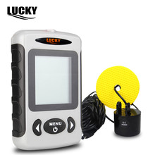 LUCKY FF718 Fish Finder Russian Menu Portable Sonar Wired Fish depth Finder Alarm 100M Echo sounder for fishing in Russian