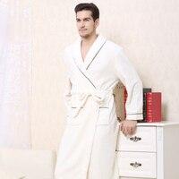 Warm Kimono Robe Winter Bathrobe Men Super Soft Flannel Coral Fleece Long Bath Robes Mens Kimono Sleepwear Male Dressing Gown