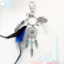 CDCOTN Car keychain Handmade Feather Dream Catcher Interior Decoration Accessories Styling Auto Products Sell well wholesale