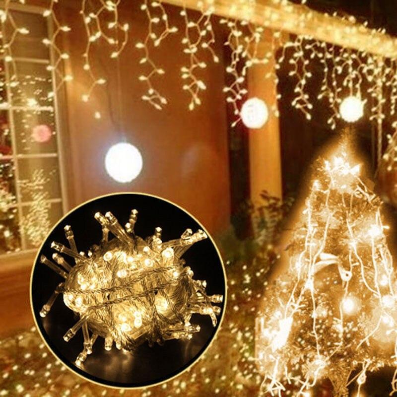 5M Шторы сосулька гирлянды светодиодные светильник длина свисания 0,4/0,5/0,6 m отличный подарок на Рождество праздничные гирлянды фею рождественские вечерние сад сценический декоративный светильник s