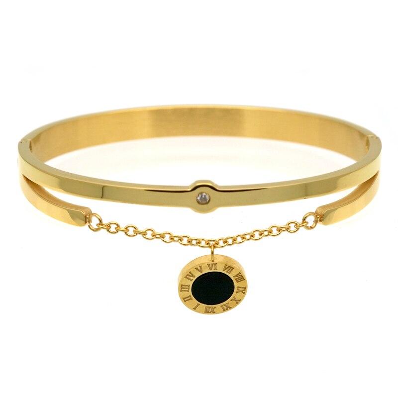 2016 mode smycken nya svarta harts kristaller kvinnor armband charm - Märkessmycken - Foto 2