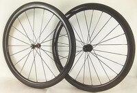 700cカーボン自転車ホイール45ミリメートル3 k/udマットクリンチャー管状23ミリメートル/25ミリメートル自転車道路ホイールフルカーボンホイー