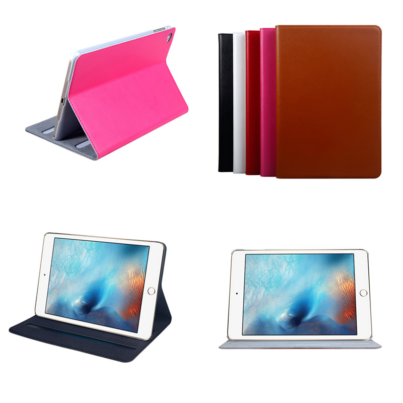 все цены на Leather Case For iPad mini 4 Tablet Genuine Leather Stand Smart Book Cover With Sleep & Wake-Up Function For iPad mini4 7.9'' онлайн