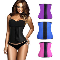2015 Hot Sale Waist Trainer Women Fashion Plus Size Shaper Cincher Waist Training Underbust Sport Bustier