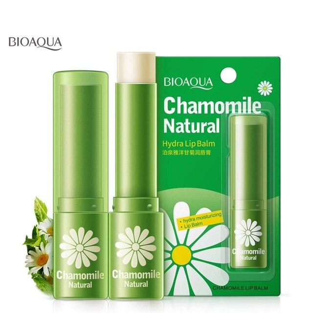 BIOAQUA beauty & health natural chamomile moisturizing lip balm repair lips wrinkles fade lip lines lipstick lip care skin care lip membrane nursing care set