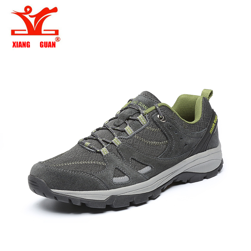 XIANGGUAN Hiking Shoes for man Outdoor Sneakers women off-road Athletic Summer Mesh Breathable men Sports Shoes size 36-45 2017 women hiking sneakers shose lace up low cut sport shoes breathable hiking shoes women athletic outdoor shoes quick drying