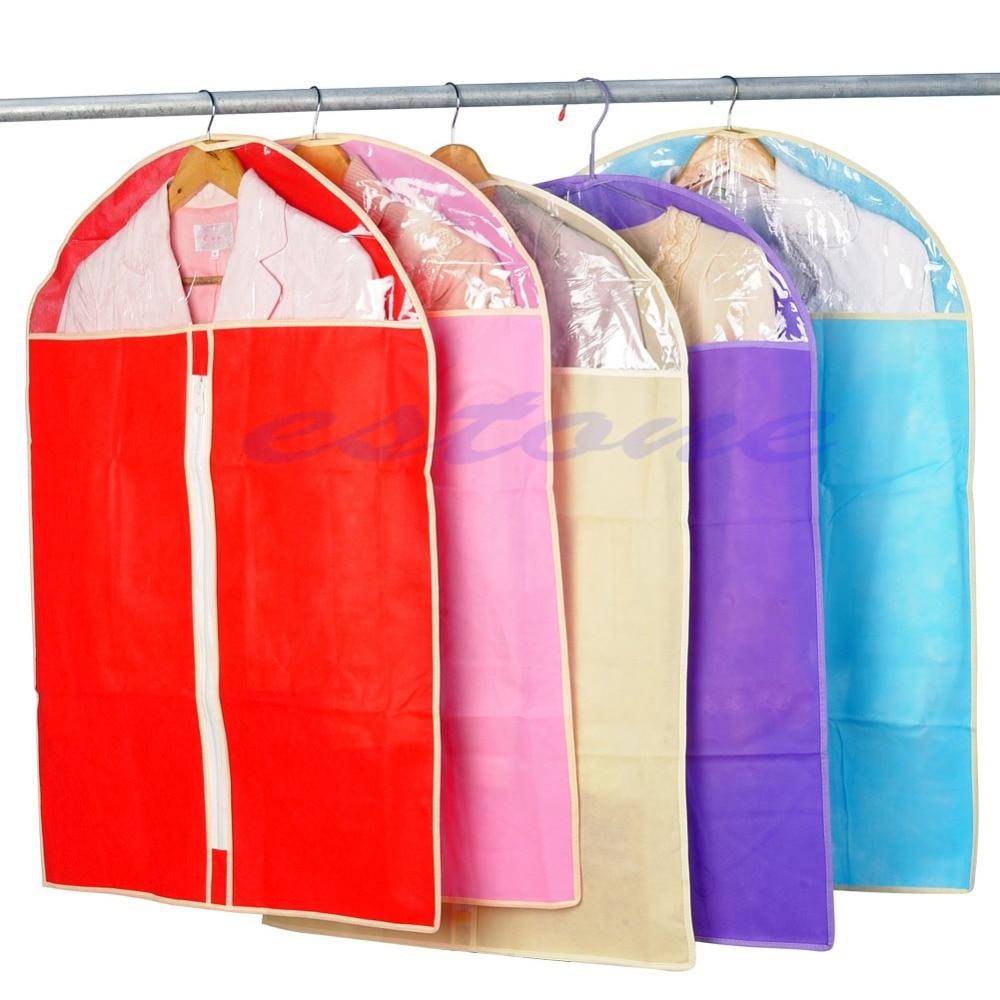 Sac couverture pour costume de vêtement, nouveau sac de couverture pour costume de vêtement veste anti-poussière jupe de rangement, protection de la couleur aléatoire