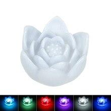 Romantic Lotus Shaped Battery-Operated Plastic LED Nightlight