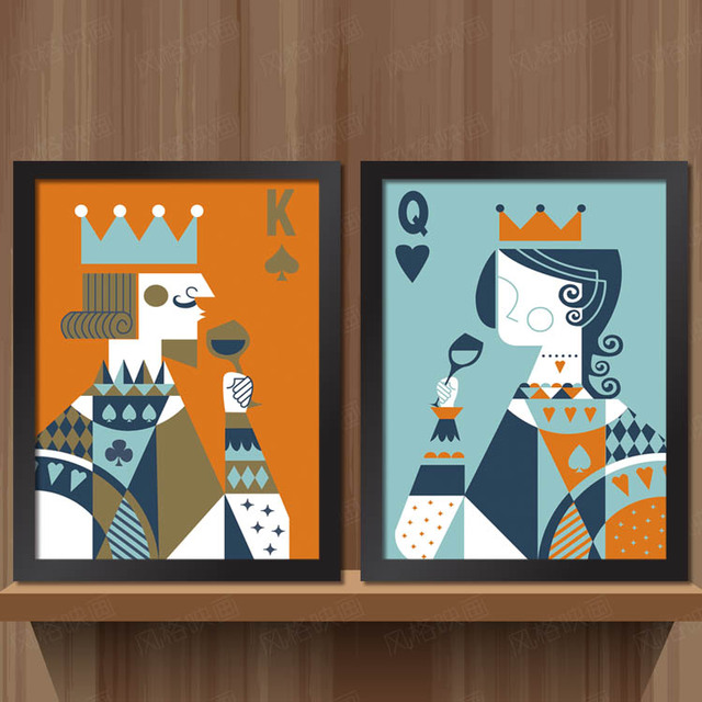 Buy king and queen personalized for Decorative mural painting