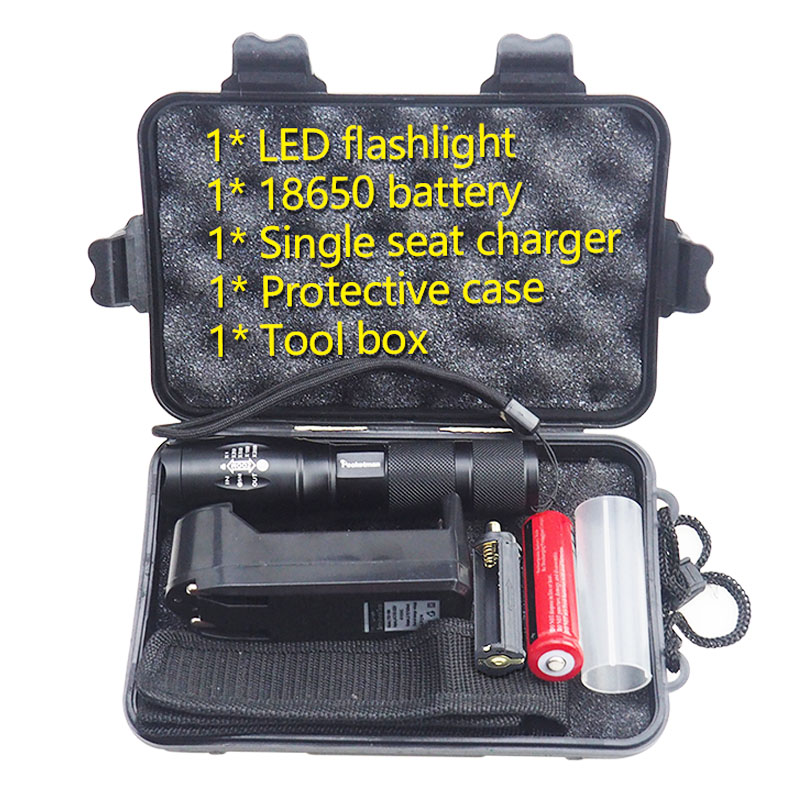 LED flashlight Tactical Flashlight 5000 Lumens XM-L2 Zoomable 5 Modes aluminum Lanterna LED Torch Flashlights For Camping high quality black torch light mini led flashlight 2000 lumens zoomable 3 modes aluminum alloy led flashlights torch for camping