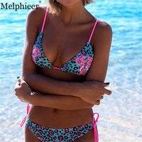 Melphieer Mädchen Neue Leopardenmuster Bikini Pad Push Up Brazilian Bikini-badeanzug Bademode Baden Badeanzug Maillot De Bain