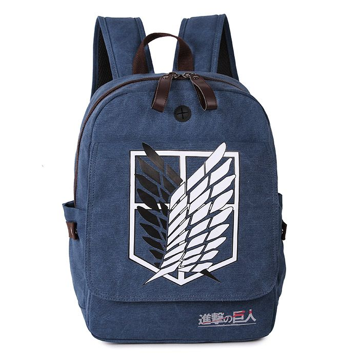 все цены на Free Shipping Attack on Titan cosplay Anime Bag Mikasa Durable Canvas Backpacks Shingeki no Kyojin Travel Bags dropshipping