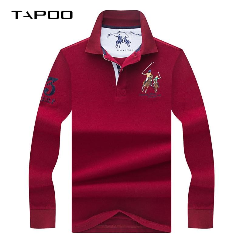 2019 Winter High Quality men's Long sleeve polo shirt Men