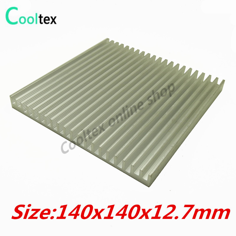 140x140x12.7mm  Aluminum HeatSink heat sink radiator for Electronic Power Amplifier Chip VGA RAM LED COOLER cooling 20pcs lot aluminum heatsink 14 14 6mm electronic chip radiator cooler w thermal double sided adhesive tape for ic 3d printer
