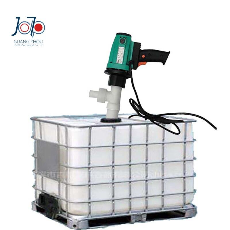 1.1KW Résistant À La Corrosion Chimique Pompe De Transfert D'huile RPP En Plastique Baril Pompe Chlorhydrique/Sulfurique acide Électrique Pompe À Liquide