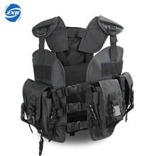 Unloading Men Multi-pocket Tactical Hunting Vest 6 Colors Camouflage Molle Soft Body Military Vest Army Tactical Vest Chaleco(China)