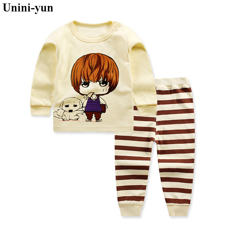 Baby Boy Clothes Autumn Cartoon long sleeve t-shirt +long pants 2pc suits kids Spring girls clothing Set Sport Tracksuit 9m12m5t baby boy clothes 2017 brand summer kids clothes sets t shirt pants suit clothing set star printed clothes newborn sport suits