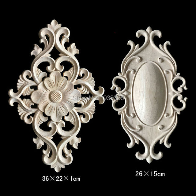 Irregular Furniture Decorative Lique Wood Carving Crafts Flower Carved Boards New Year Home Decor Wooden Plaque