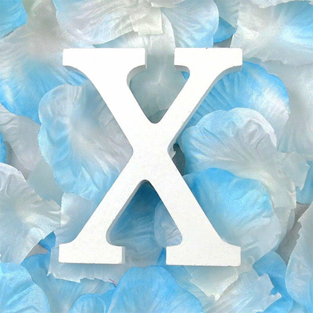 3D деревянные буквы letras decorativas персонализированное Имя Дизайн Искусство ремесло деревянные украшения letras de madera houten буквы - Цвет: X