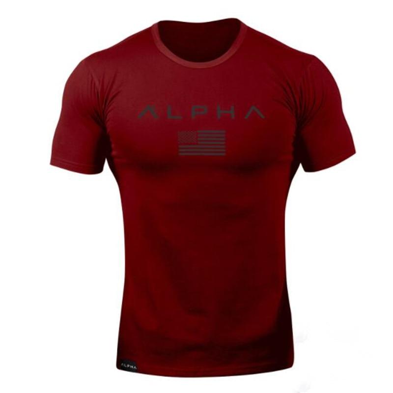 New Mens Brand gyms t shirt Fitness Bodybuilding Crossfit Slim Cotton Shirts Men Short Sleeve workout