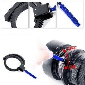 Image 2 - 1pc For SLR DSLR Camera Accessories Adjustable Rubber Follow Focus Gear Ring Belt 49mm to 82mm Grip for DSLR Camcorder Camera