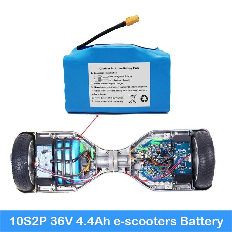 Scooter batterie 36 v 4.4ah batterie pour scooter 10S2P 20 pcs batterie à l'intérieur avec PCB batterie au lithium scooter