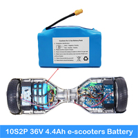 scooter battery 36v 4.4ah battery for scooter 10S2P 20pcs battery inside with PCB lithium battery scooter