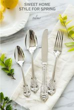 24 Pieces 304 stainless steel Luxury Silver gold Flatware Set Cutlery Set Dinner Set Tableware Dinner Fork Spoon Knife