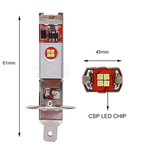 Image 2 - 2pcs Canbus led H1 H3 LED Bulb 12 led CSP Chip 60W Auto Car Fog Light Lamp Driving Running Light 6000K White 12V 24V