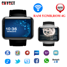 Chycet DM98 2.2″ Android 4.4 Sports Smartwatch Phone Bluetooth Wristwatch 2G 3G WiFi 512MB 4GB 1.3MP Cam 900mAh GPS Smart Watch
