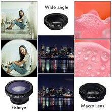 Fisheye Lens 3 in 1 mobile phone clip on lens