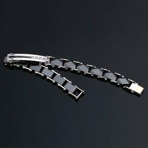 Image 3 - Браслет женский керамический из нержавеющей стали шириной 8 мм с кристаллами