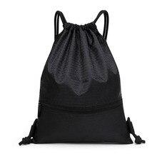 2018 Новый Для мужчин Для женщин Водонепроницаемый нейлоновой веревкой рюкзак Повседневное сумка Комплект рот мешок студент рюкзак для Для мужчин Комплект карман