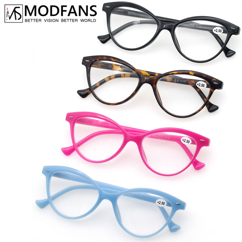Reading Glasses Women Cat Eye Vintage Fashion Eyeglass Cateye Retro Clear Lens Ladies Ultralight Diopter 1.25 1.5 1.75 2.25 2.5