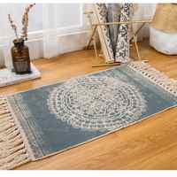 Nouveau chanvre coton bohème Style américain tapis tapis salon chambre chevet tapis rétro célébrité gland couverture décor à la maison
