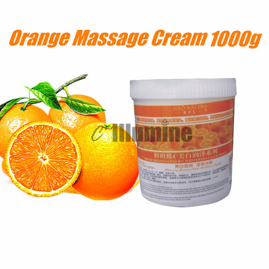 Massage Body Cream Repair Fresh Orange Extract Vitamin C Whitening Brightening Moisturizing Nutrition Beauty Salon 1000g super moisturizing facial body replenishment nourish repair cream brightening whitening beauty salon 1000ml