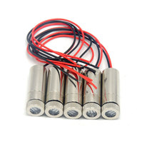 купить 5pcs 12mmx30mm Line Infrared IR Laser Lights Focusable 980nm 30mW Laser Diode Module w Focus Lens Heads 120 Deg дешево