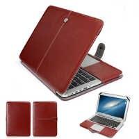 Etui ordinateur portable en cuir synthétique polyuréthane mode pour Apple Macbook Pro Air Retina 11 12 13 15 pouces Ultrabook sacoche pour ordinateur portable pour Mac book 13.3
