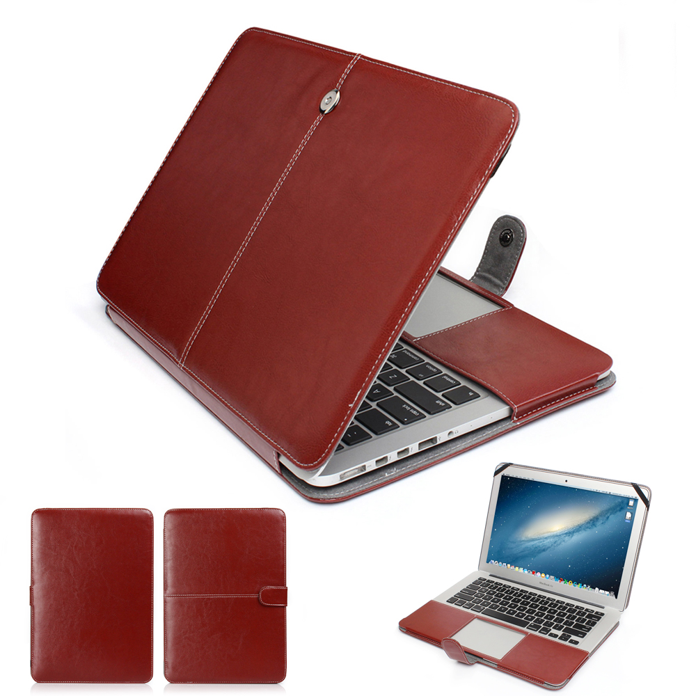 Moda PU Couro Caso Laptop Para Apple Macbook Pro Air Retina 11 12 13 15 polegada Ultrabook Notebook Capa bag para Mac livro 13.3