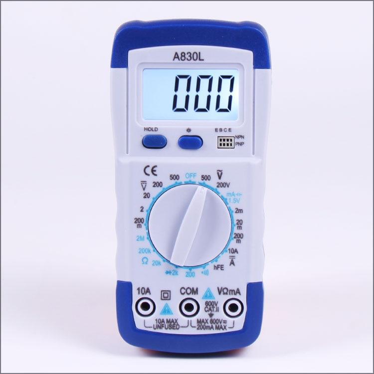Fast arrival New!!! Digital LCD Multimeter Voltmeter A830L Ammeter Ohmmeter OHM VOLT Tester