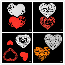 AZSG Heart-shaped snowflake circle Cutting Dies for DIY Scrapbooking Decoretive Embossing Stencial Decoative Card die cutter