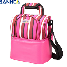 SANNE 9L Thermal Lunch bag Picnic Storage Bags Multifunction Food Cooler Insulation for Women YQ822