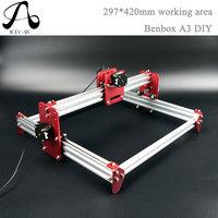 Diy CNC engraving machine working area 297*420mm Benbox PCB Milling Machine CNC Wood Carving Mini Engraving router PVC