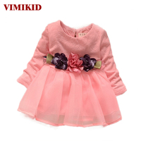 2016 Winter Newborn Fancy Infant Baby Dresses Girl Frocks Designs Party Wedding With Long Sleeves Jacadi