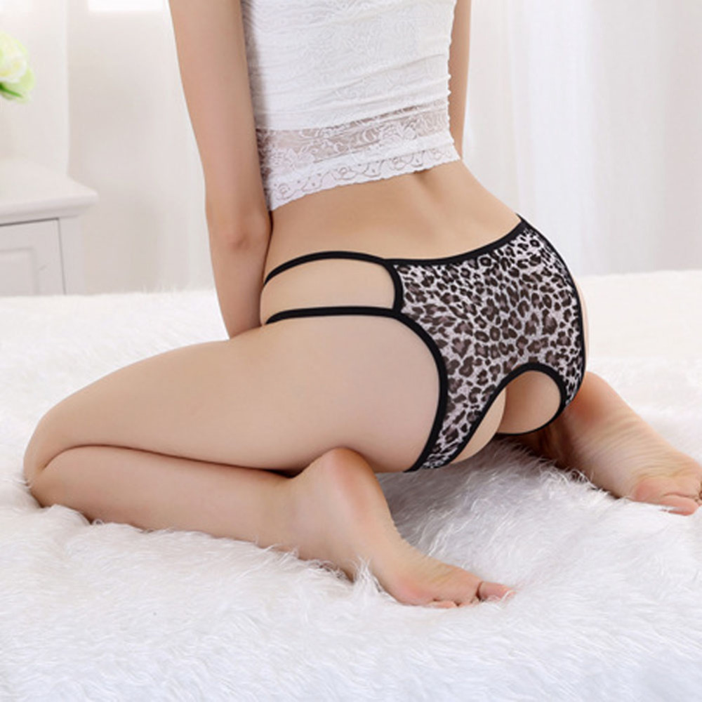 Hot Sell Women Girls Leopard Hipster Open Crotch Butt -5166