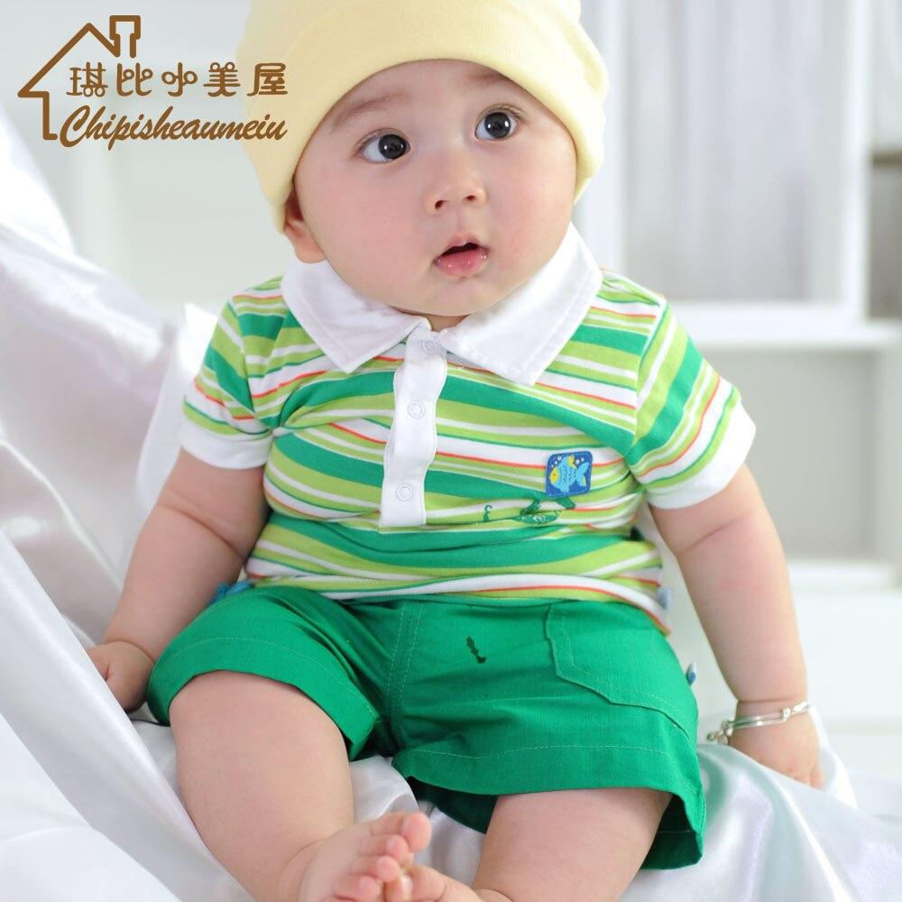 f4b484c06b78 Baby clothes baby boy summer set infant summer newborn 0 1 year old ...