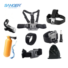 SANGER for Gopro Accessories Chest Head Strap Monopod Floating Bobber Mount for Xiaomi Yi Action Camera Go pro Hero 5 4 3+ Sjcam